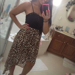 Dresses & Skirts - Hi Lo Leopard Dress🖤